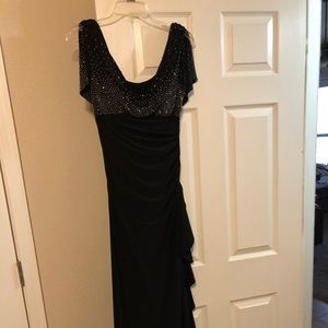 Size 4 black beaded evening gown